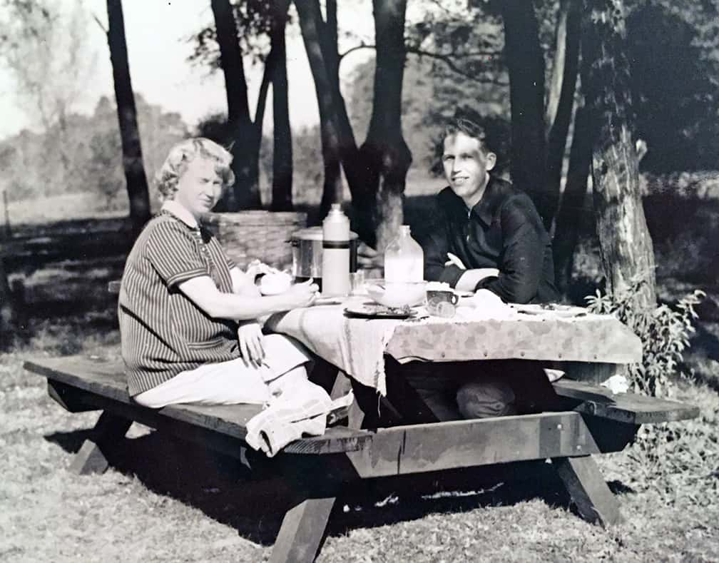 Janice and Jim at a Purina retreat for professionals. Jan was pregnant with Richard on that trip.