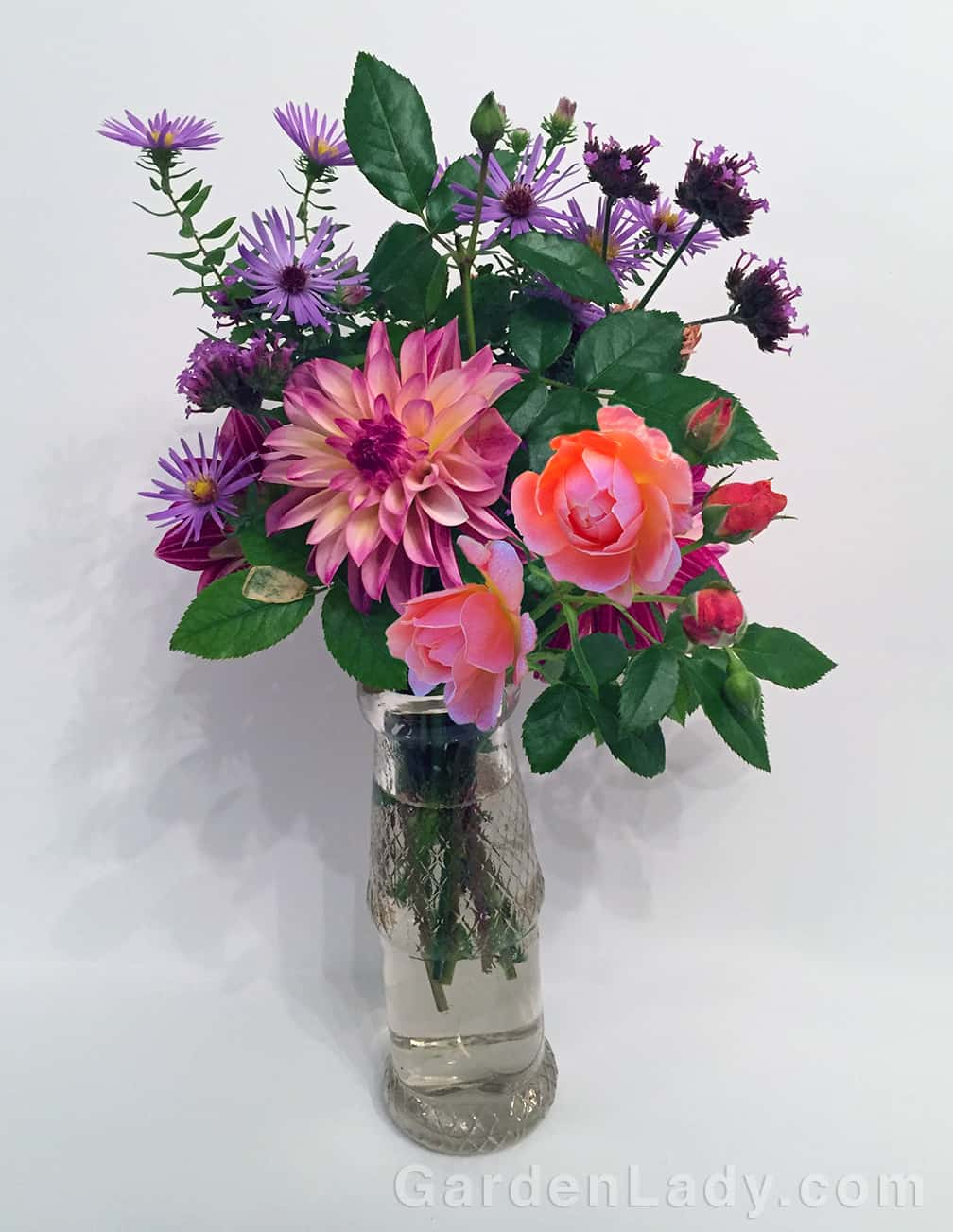 Adding magic and perfume to any bouquet: At Last Rose. How many shrub roses can you say that about?