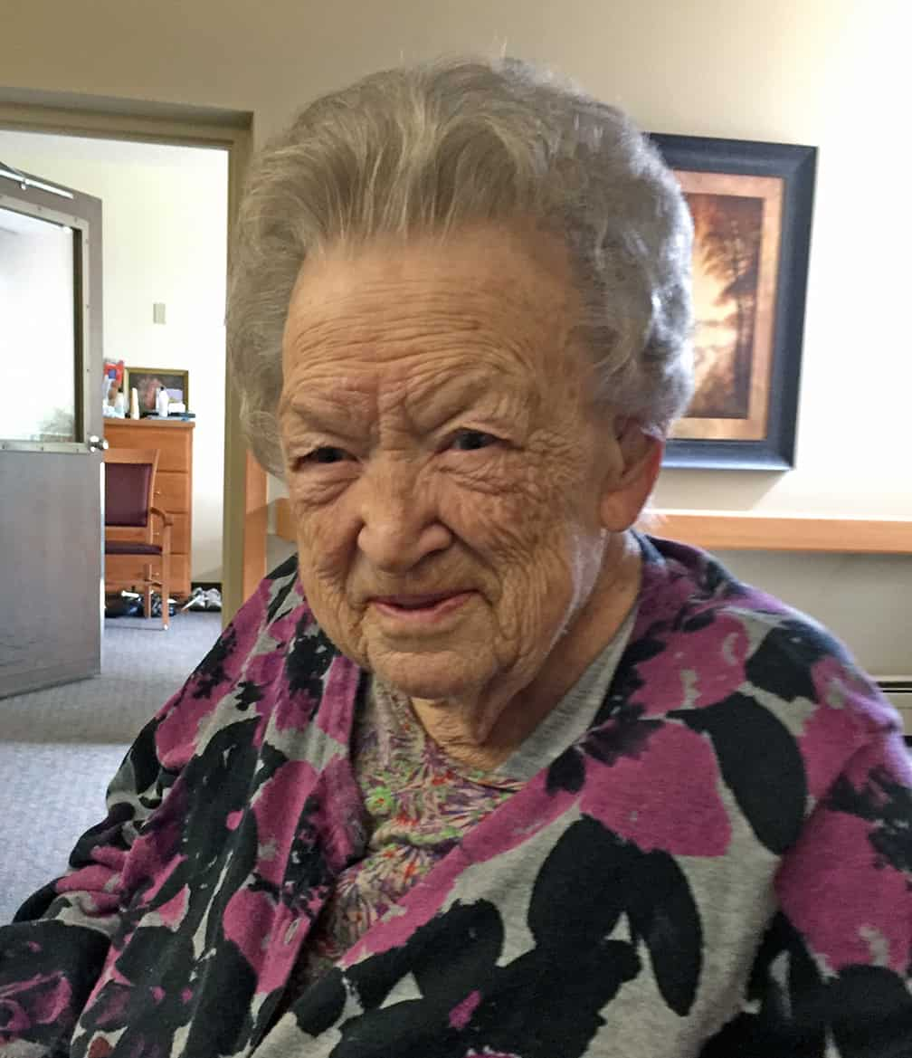 When I visited her in April she had a morning of clarity. We talked about her life, my kids, and gardens. She had her hair done in the nursing home salon, and I took this photo.