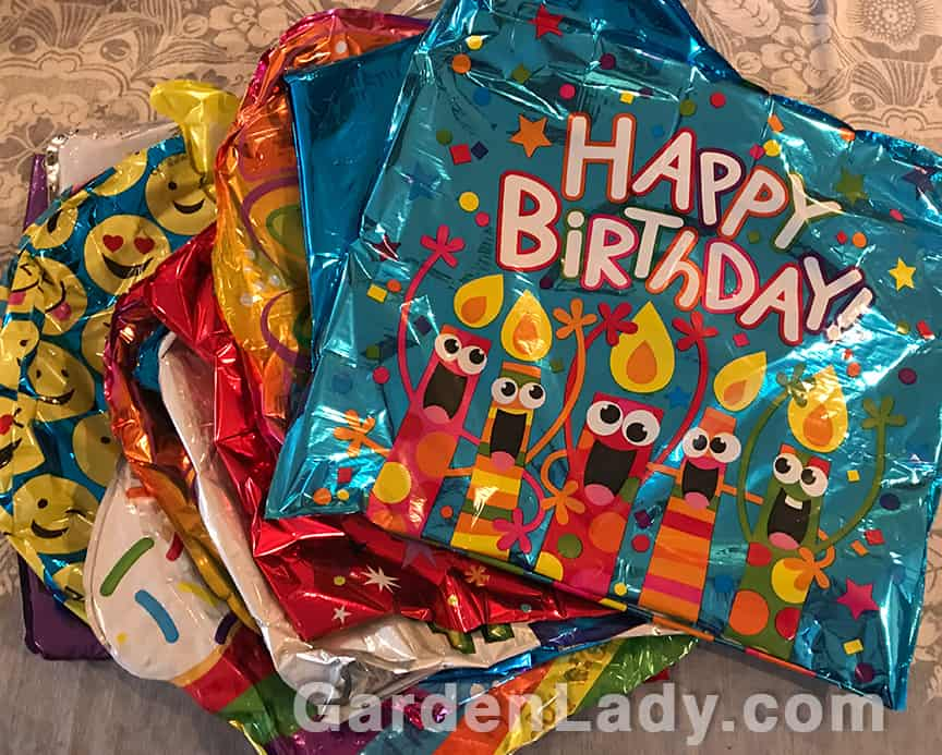 Recycle Wilted Mylar Balloons