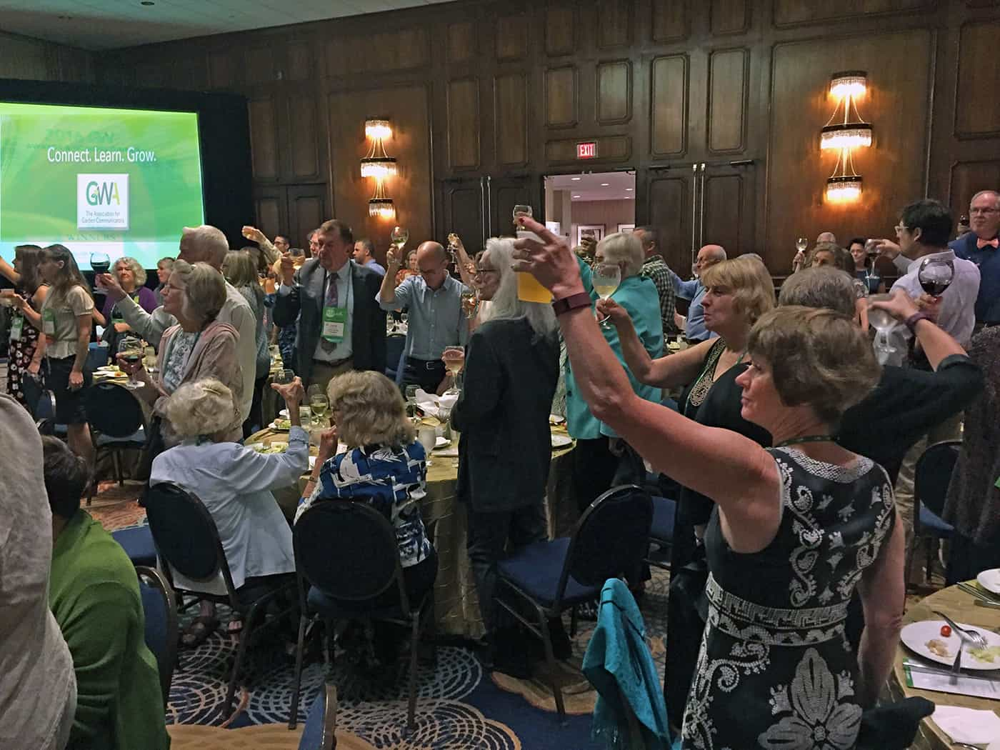 At the GWA meeting we raise our glass to fellow garden communicators, those who supply plants and products that help create beautiful gardens, and to everyone who appreciates horticulture.