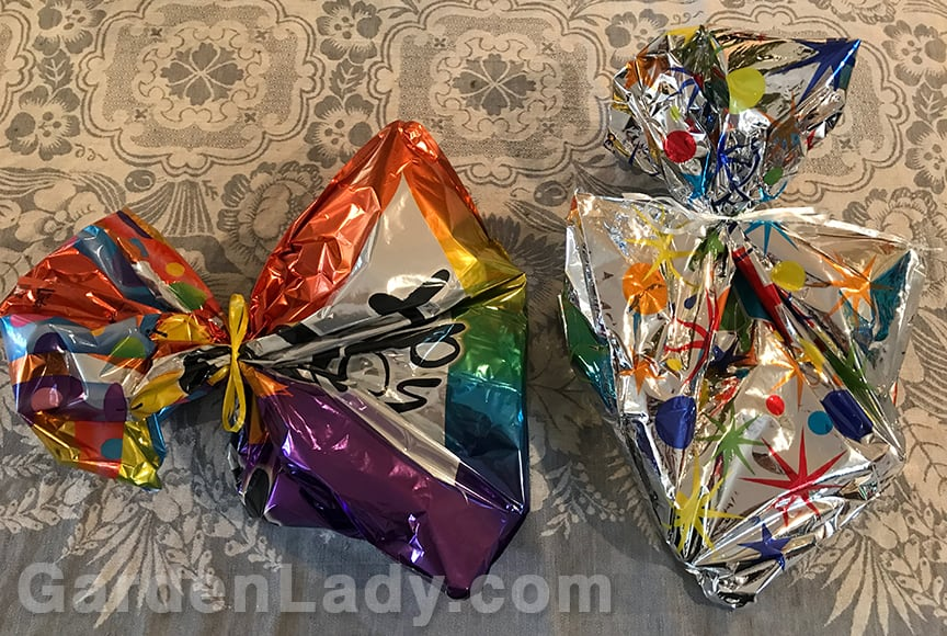 GardenLady com | Recycle Wilted Mylar Balloons