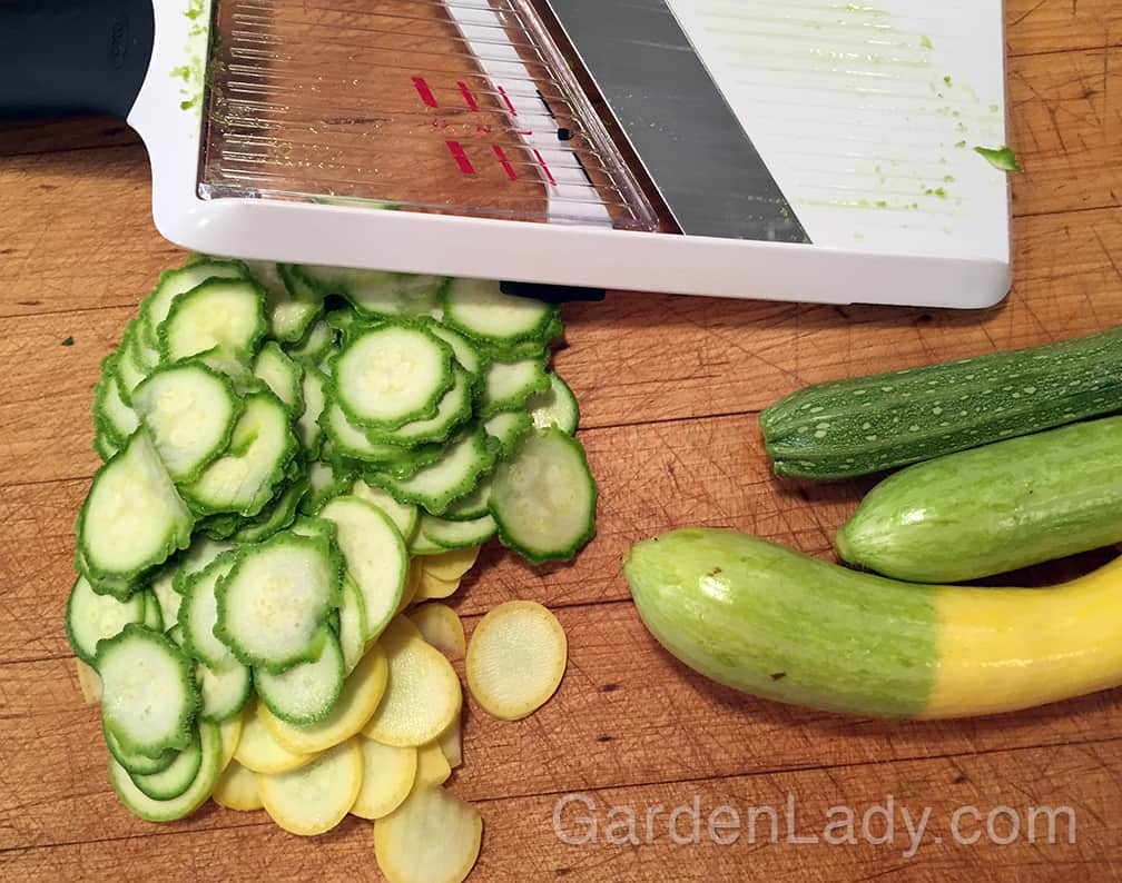 Slice the summer squash very thinly so that you don't have to pre-cook.